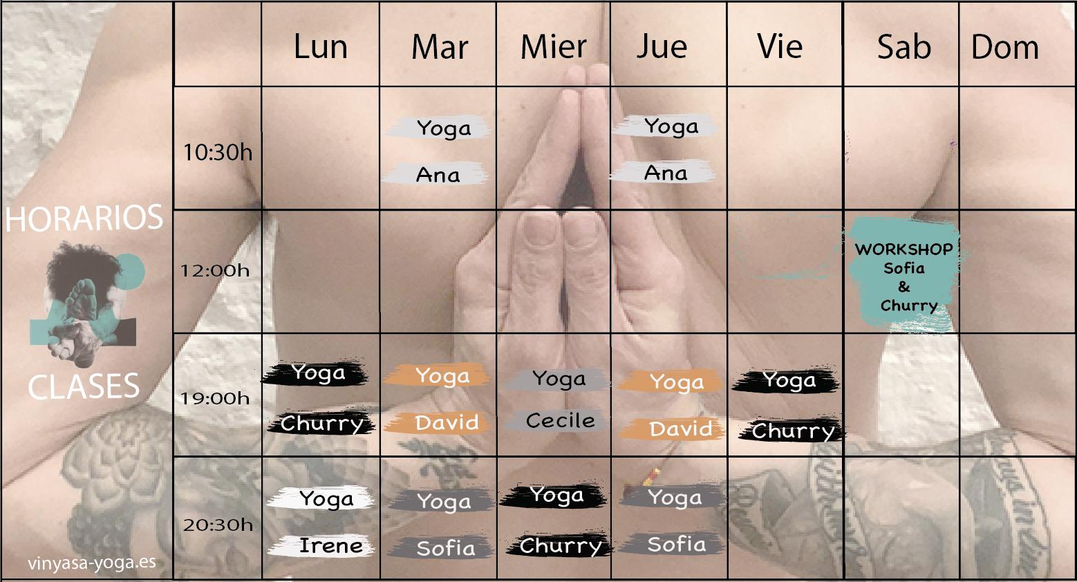 horarios clases vinyasa yogsa